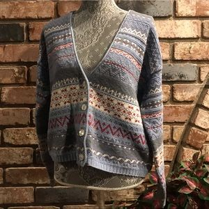 EDDIE BAUER knit button up winter sweater